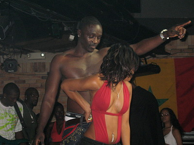 Akon and Danah on stage at Zen