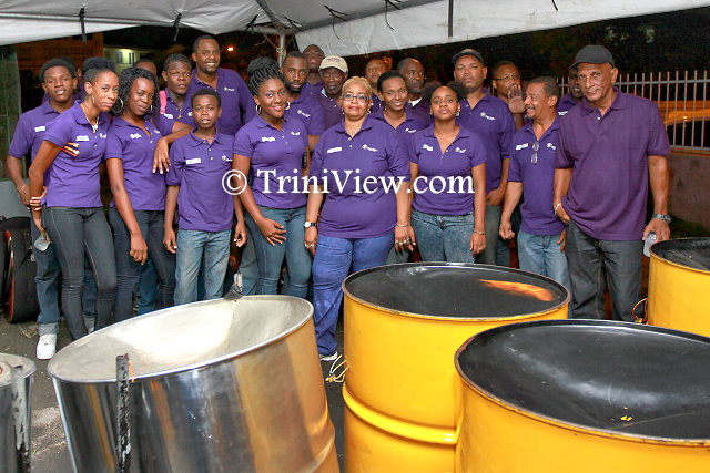 Members of Neal & Massy Trinidad All Stars Steel Orchestra