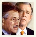 Pervez Musharraf and George Bush Jr