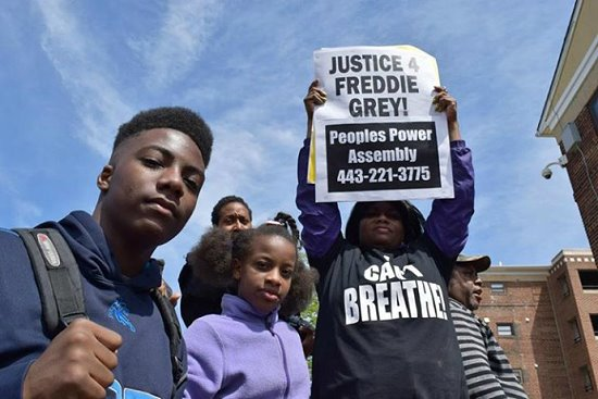 Baltimore protesters demanded 'Justice for Freddie Gray' (Photo courtesy of Ryan Harvey)