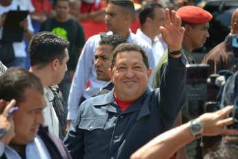 Chavez voting in Manuel Palacios Fajardo High School, in 23 de Enero, Caracas (Ryan Mallet-Outtrim)